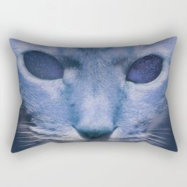 Space Cat's Eye Rectangular Pillow