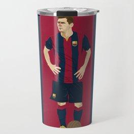 Lionel Messi Illustration Travel Mug