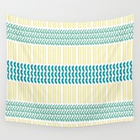 knit Wall Tapestries featuring Knit Pattern by K&C Design