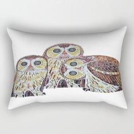 Three Owls - Art Nouveau Inspired by Klimt Rectangular Pillow