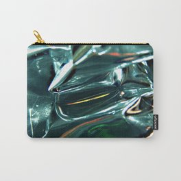 Pleated Metal Construction Carry-All Pouch