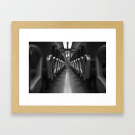 Alone in Train Framed Art Print