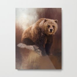 Great Strength - Grizzly Bear Art by Jordan Blackstone Metal Print