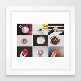 Morning stories - SMOOTHIE set Framed Art Print