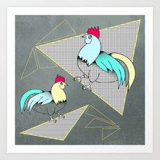 Coq français - French rooster Art Print