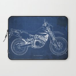 2012 Suzuki DR650SE, motorcycle blueprint, gift for biker Laptop Sleeve