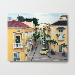 Colonial Architecture in Cartagena Metal Print