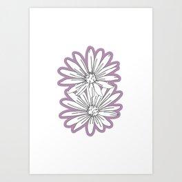Daisy flowers - Floral 003 Art Print