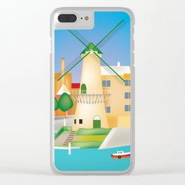 Rotterdam, Holland - Skyline Illustration by Loose Petals Clear iPhone Case