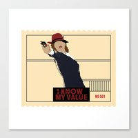 agent carter Canvas Prints featuring Agent Carter  by amyskhaleesi