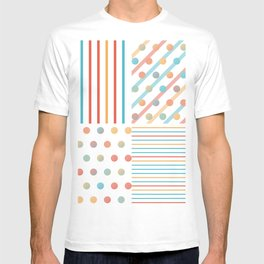 Simple saturated pattern T-shirt