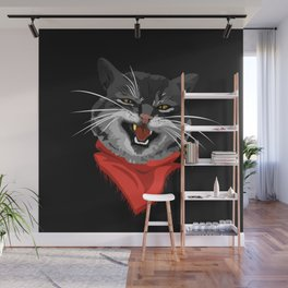 The Cat with a golden tooth Wall Mural