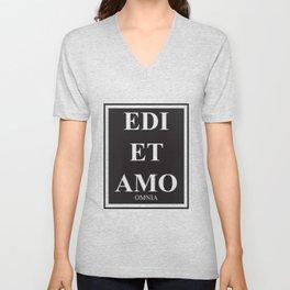 Edi et Amo - Love and hate - Omnia Unisex V-Neck
