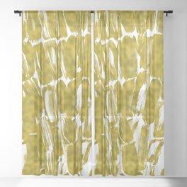 Gold Sugarcane Sheer Curtain