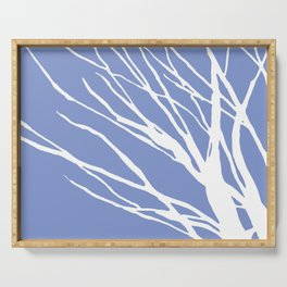 Tree Silhouette Periwinkle Blues Serving Tray