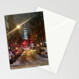 Snow in New York Stationery Cards