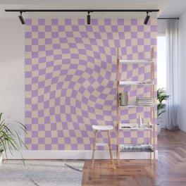 Check V - Lilac Twist — Checkerboard Print Wall Mural