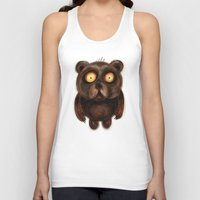 teddy bear Tank Tops featuring Teddy Bear by Riccardo Pertici