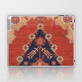 Southwest Tuscan Shapes III // 18th Century Aged Dark Blue Redish Yellow Colorful Ornate Rug Pattern Laptop & iPad Skin