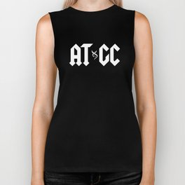 ATGC DNA Funny Double Helix Graphic Science Teacher Biker Tank