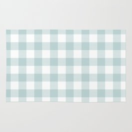 Charcoal Sky Checker Gingham Plaid Rug