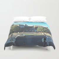 hustle Duvet Covers featuring Hustle by Out of Line