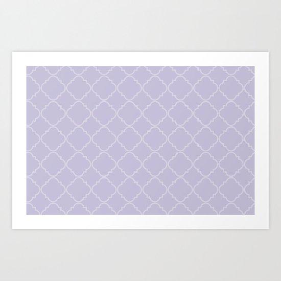 Quatrefoil - Lavender Art Print