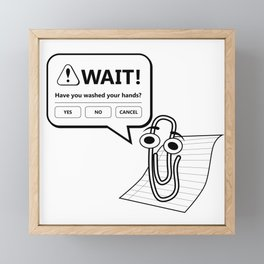 Wash Your Hands - Paperclip Office Assistant Framed Mini Art Print