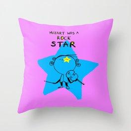 MOZART WAS A ROCK STAR (PINK) Throw Pillow
