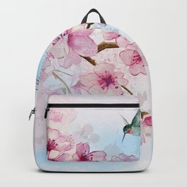 Cherry Blossom and Hummingbirds Backpack