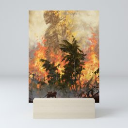 The fire demon of the rainforests Mini Art Print