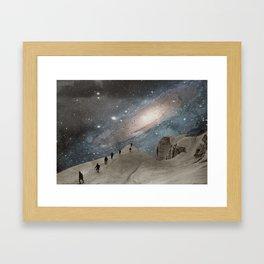 Milky Mountain Framed Art Print