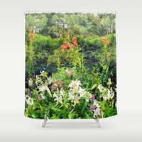 shakespeare Shower Curtains featuring Shakespeare Garden by Bill Jackson