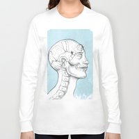 grid Long Sleeve T-shirts featuring Grid by isberg illustration
