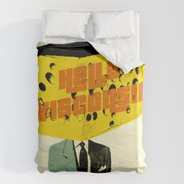 Hello Wisconsin Duvet Cover