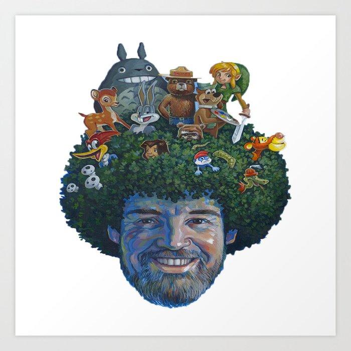 Bob Ross Art Print