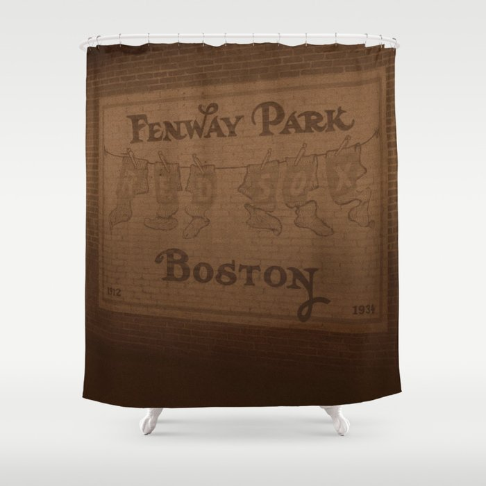 Beau Fenway Park, 1912 1934   Boston Red Sox Shower Curtain