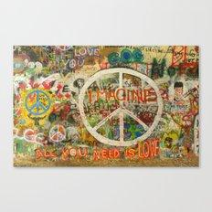 Peace Sign - Love - Graffiti Canvas Print