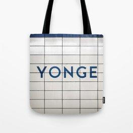 Toronto Younge Subway Station Sign Tote Bag