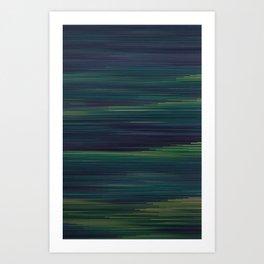 Glitched v.3 Art Print