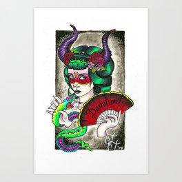 She Devil  Art Print