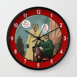 Merry Christmas to Owls, and to Owls a Good Night!! Wall Clock