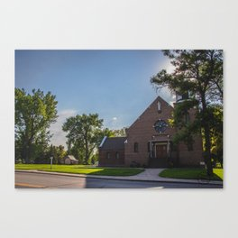 Holy Trinity Catholic Church, Fingal, North Dakota Canvas Print
