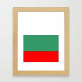 flag of bulgaria 2 -bulgarian, България,български,slav,cyrillic,Sofia,bulgaria Framed Art Print