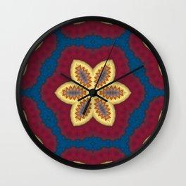New Color Pyramidal Mandala 73 - Pattern 3 Wall Clock