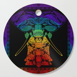 Multi Coloured Patterned Elephant Cutting Board