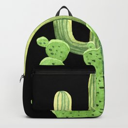 Perfect Cactus Bunch on Black Backpack