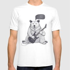 Let's rock bear Mens Fitted Tee White MEDIUM