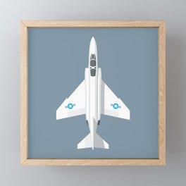 F-4 Phantom Jet Fighter Aircraft - Slate Framed Mini Art Print