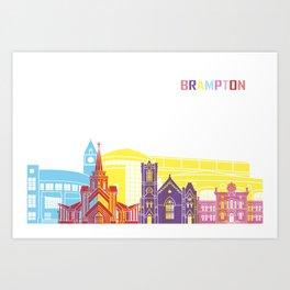 Brampton skyline pop Art Print